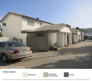 The townhouses with roof option 1
