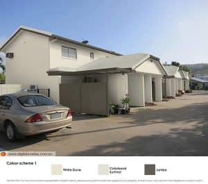 The townhouses with roof option 2