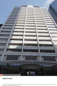 CBD skyscraper in existing colours