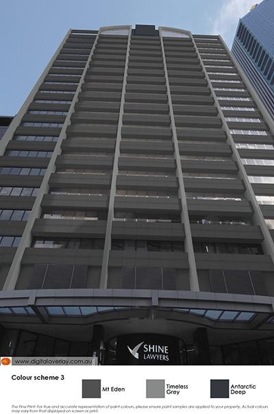 CBD skyscraper in colour scheme 3