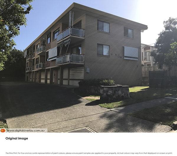 The original image of the suburban unit block