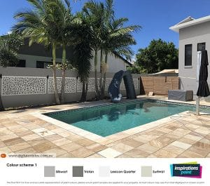 A visualisation image with decorative feature added to pool fence