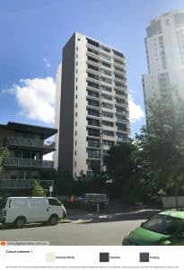 New colours and feature wall on Gold Coast apartment block