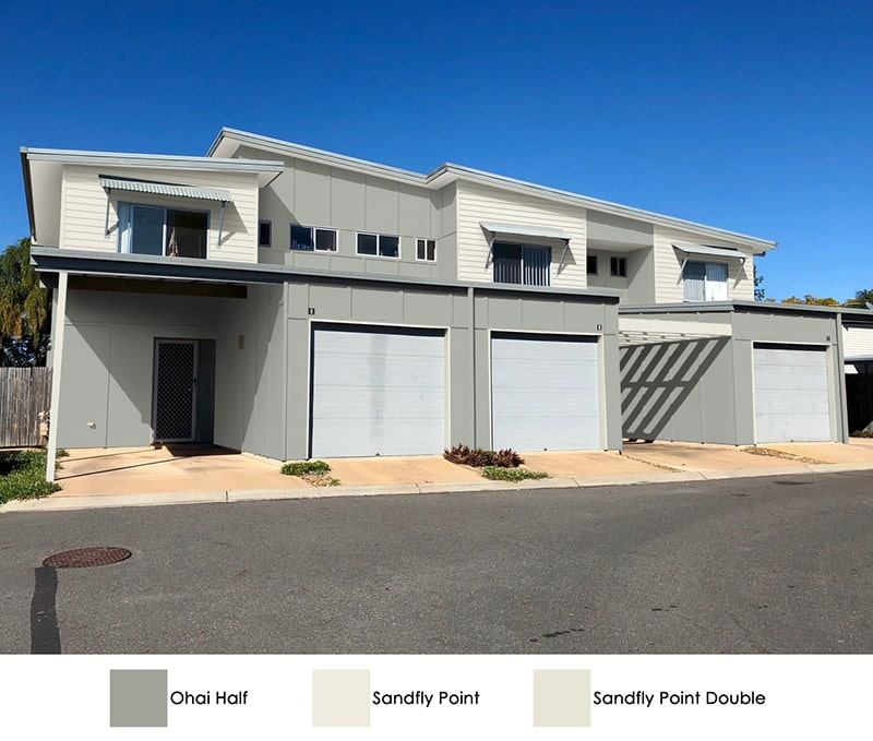 Colour Option 3 in Oahi Half wall and Sandfly Point double features