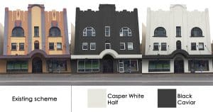 Art Deco building gets a contemporary makeover with bold new colour schemes.
